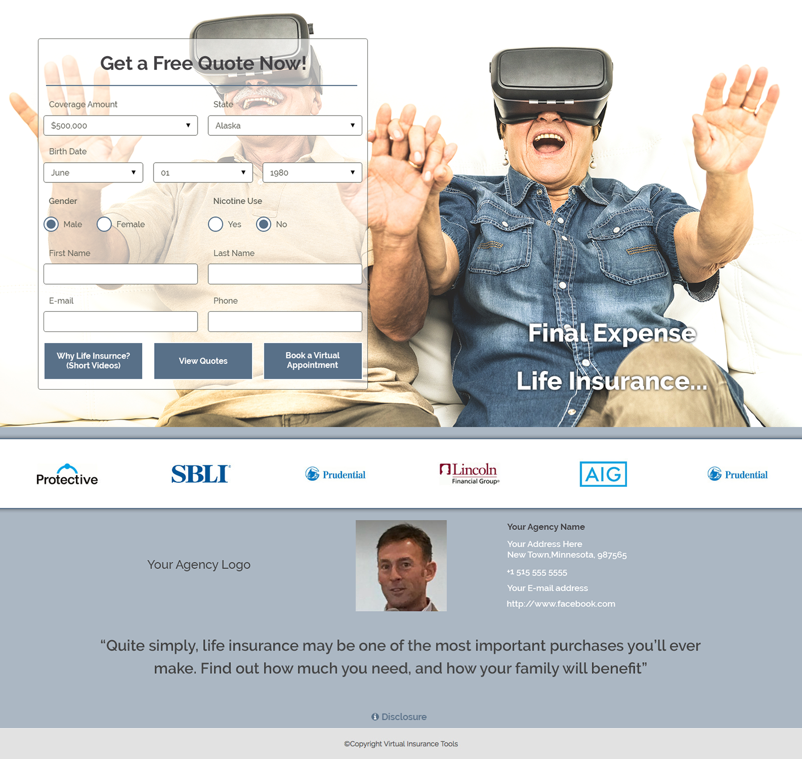 FEX Landing Page Virtual Reality
